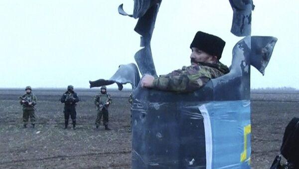 Účastník blokády v Chersonské oblasti - Sputnik Česká republika