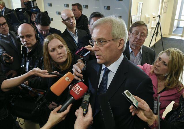 Stálý ruský zástupce při NATO Alexandr Gruško