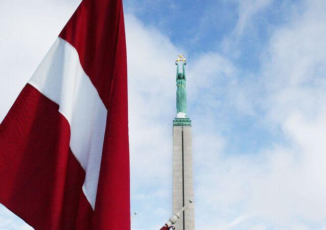 Lotyšská vlajka v Rize