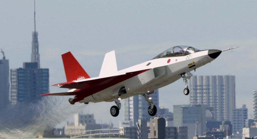První let japonské stíhačky páté generace X-2 Shinshin