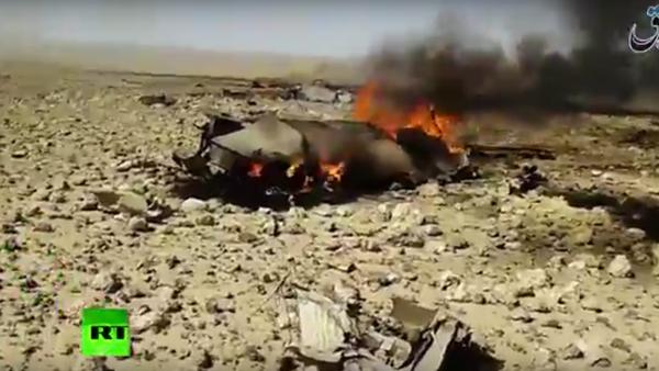Na internetu se objevilo video údajně z místa katastrofy MiG-23 v Sýrii - Sputnik Česká republika