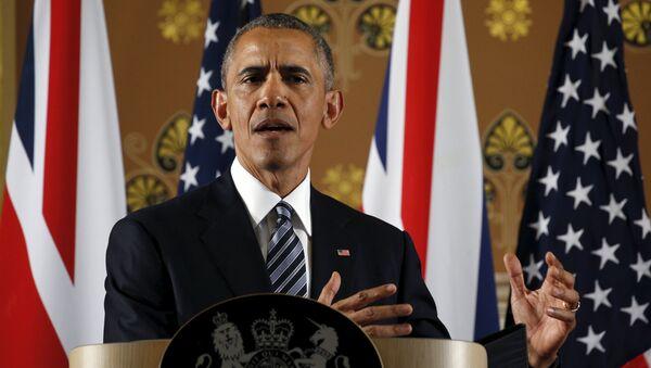 Barack Obama během vystoupení v Londýně - Sputnik Česká republika