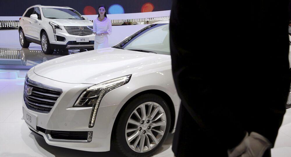 Cadillac XT5 na výstavě automobilů v Pekingu