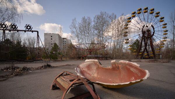 Opuštěné město Pripjať v zakázané oblasti - Sputnik Česká republika