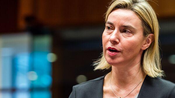 Šéfka unijní diplomacie Federica Mogheriniová - Sputnik Česká republika