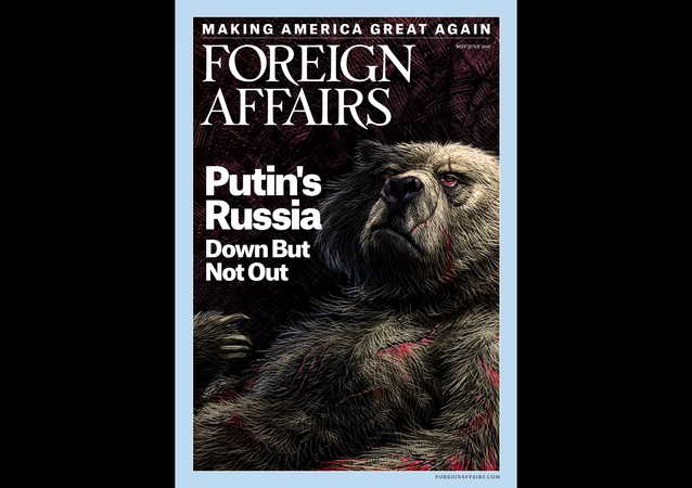 Foreign Affairs udělal vydání o Rusku reklamu s vodkou, štamprlaty a medvědem
