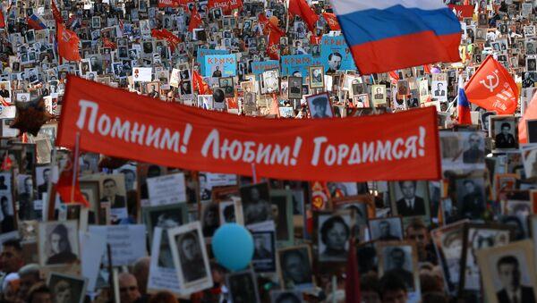 Akce Nesmrtelný pluk v Moskvě - Sputnik Česká republika