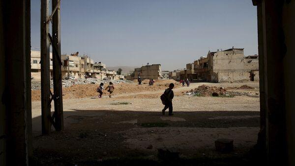 Sýrie, předměstí Damašku - Sputnik Česká republika