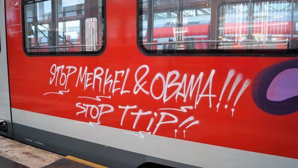 Anti-TTIP Graffitti - Sputnik Česká republika