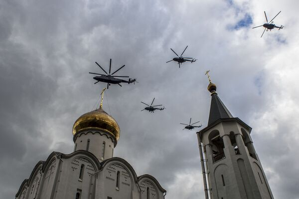 Zkouška vzdušné části přehlídky Vítězství - Sputnik Česká republika
