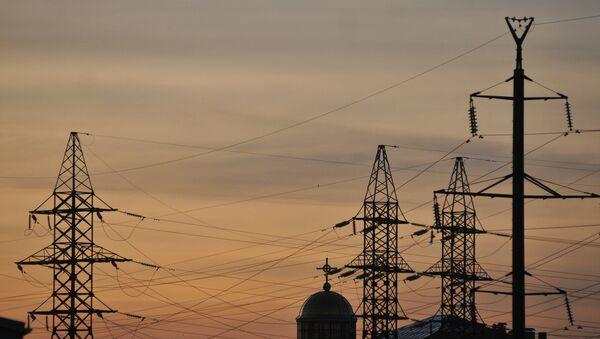 Elektrické vedení na Ukrajině - Sputnik Česká republika