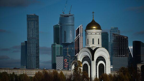 Park Vítězství a obchodní čtvrť Moskva-City - Sputnik Česká republika