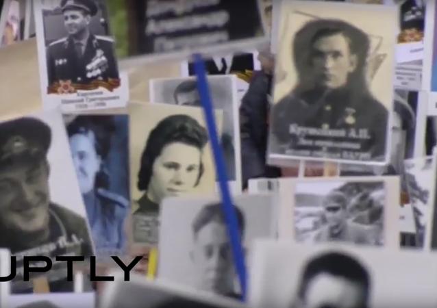 Průvod Nesmrtelného pluku ke Dni vítězství v Moskvě