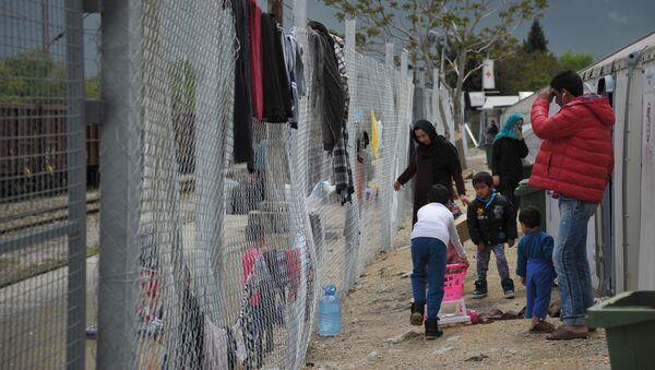 Uprchlický tábor v Makedonii - Sputnik Česká republika