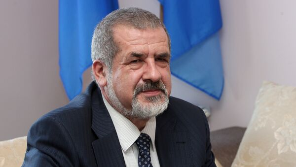 Vedoucí sdružení Medžlis krymsko-tatarského lidu, poslanec Nejvyšší rady Refat Čubarov - Sputnik Česká republika