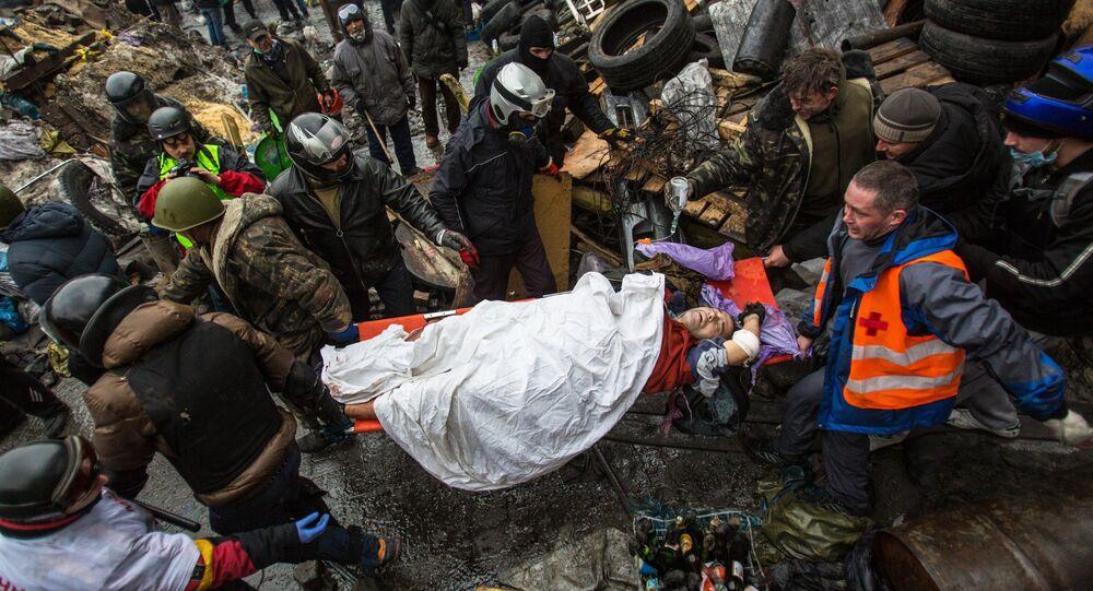 Zraněný demonstrant