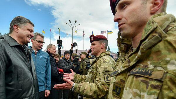 Američtí vojáci na Ukrajině - Sputnik Česká republika