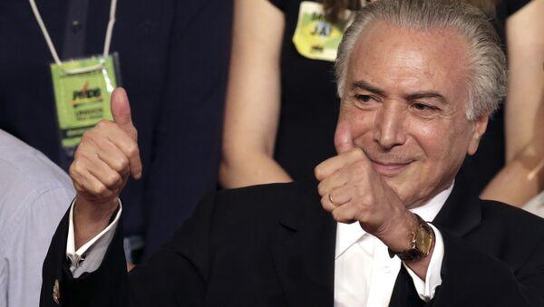 Prezident Brazílie Michel Temer - Sputnik Česká republika