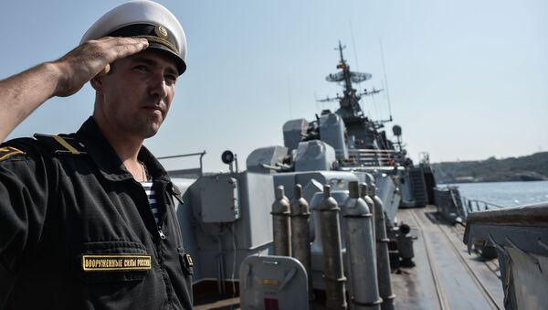 Strážní loď Ladnyj na základně Černomořské flotily - Sputnik Česká republika