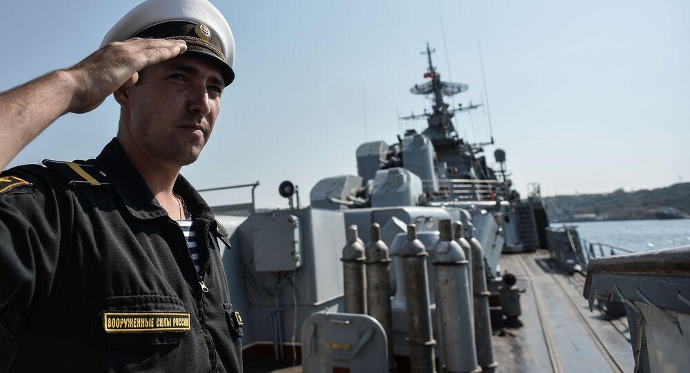Strážní loď Ladnyj na základně Černomořské flotily