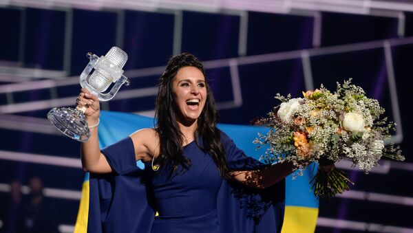 Ukrajinská zpěvačka Jamala během Eurovize 2016 - Sputnik Česká republika