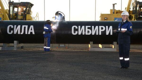 Stavba plynovodu Síla Sibiře - Sputnik Česká republika