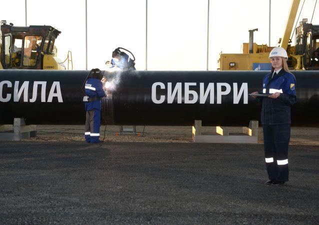 Stavba plynovodu Síla Sibiře