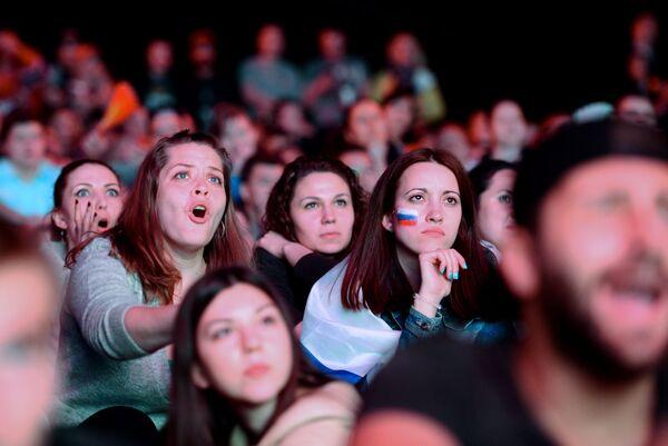 Fanoušci během hokejového mistrovství světa v Rusku - Sputnik Česká republika
