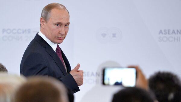 Ruský prezident Vladimir Putin během summitu Rusko-ASEAN - Sputnik Česká republika