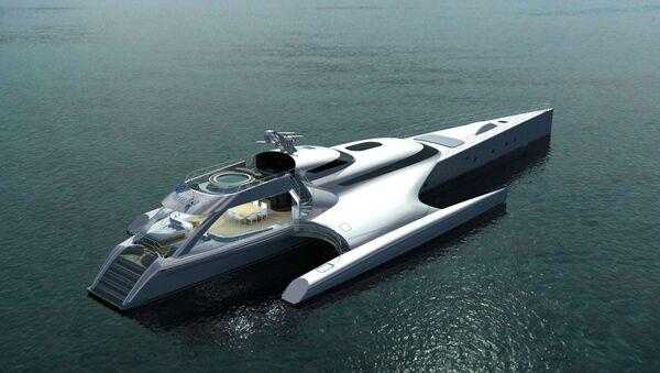 Trimarán Galaxy lotyšské společnosti Latitude Yachts - Sputnik Česká republika