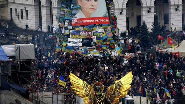 Majdan v únoru 2014 - Sputnik Česká republika