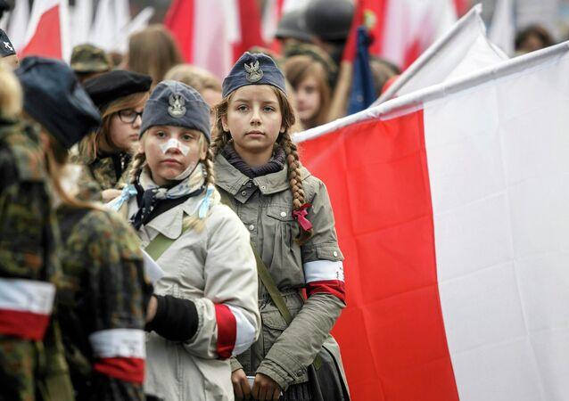 Přehlídka během Dne nezávislosti Polska