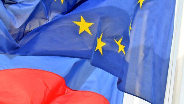 Vlajky Ruska a EU - Sputnik Česká republika