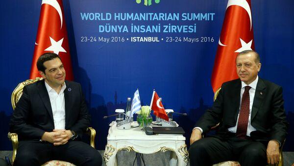Alexis Tsipras a Recep Tayyip Erdogan - Sputnik Česká republika