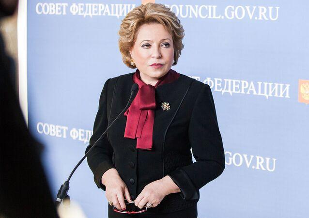 Předsedkyně ruské Rady federace Valentina Matvijenková