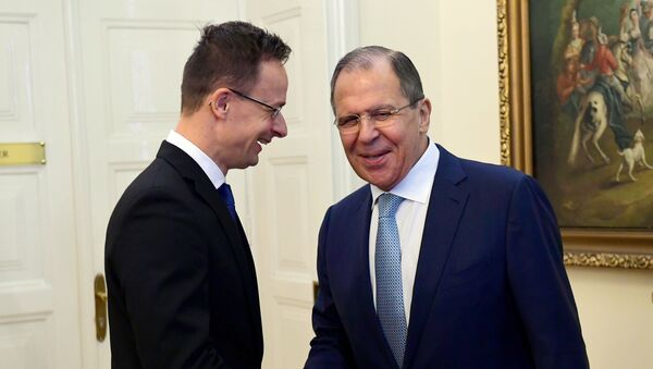 Sergej Lavrov a Peter Szijjártó - Sputnik Česká republika