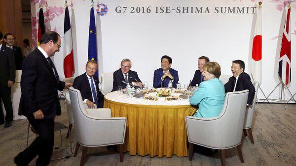 Účastníci summitu G7 - Sputnik Česká republika