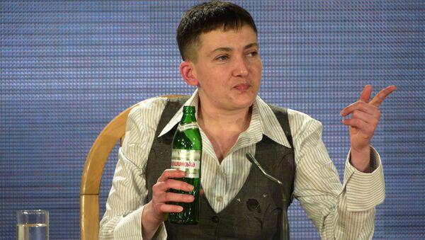 Nadija Savčenková na tiskové konferenci v Kyjevě - Sputnik Česká republika