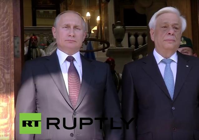 Putin v Řecku: bilaterální vztahy a tisková konference