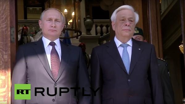Putin v Řecku: bilaterální vztahy a tisková konference - Sputnik Česká republika
