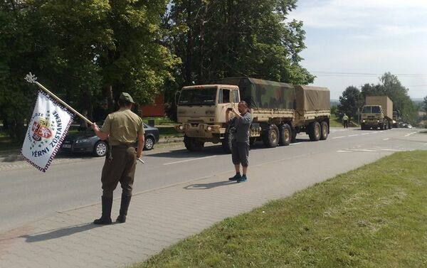 Americký konvoj - Sputnik Česká republika