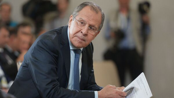 Ruský ministr zahraničních věcí Sergej Lavrov - Sputnik Česká republika