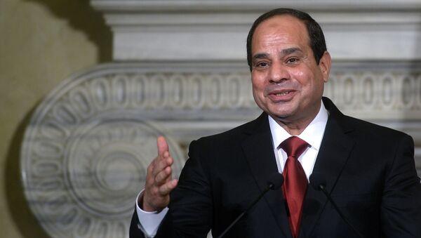 Egyptský prezident Abd al-Fattáh as-Sísí - Sputnik Česká republika