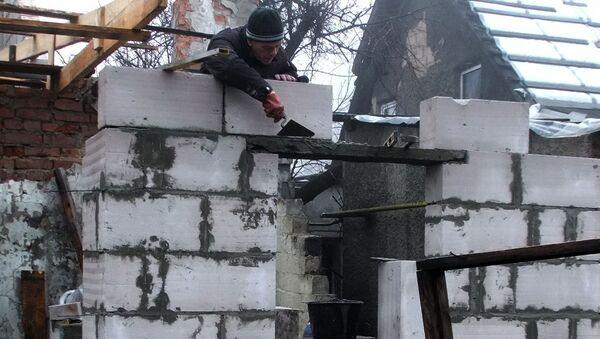 Oprava obytného domu v Doněcku - Sputnik Česká republika
