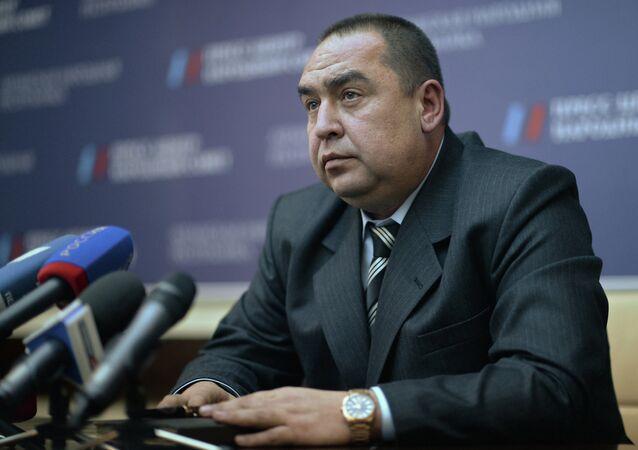 Nejvyšší představitel Luhanské lidové republiky (LLR) Igor Plotnickij