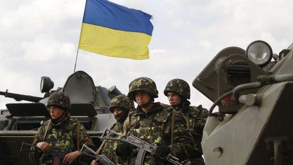 Ukrajinští vojáci na východě Ukrajiny - Sputnik Česká republika