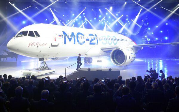 V Irkutsku prezentovali nejnovější dopravní letadlo MS-21 - Sputnik Česká republika