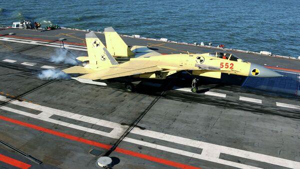 Čínský stíhací letoun J-15 - Sputnik Česká republika