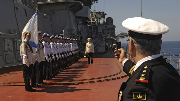 Russia's Pyotr Veliky missile cruiser makes port call in Tartus, Syria - Sputnik Česká republika