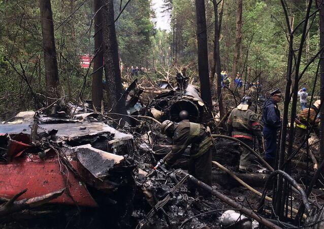 Místo havárie Su-27